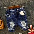 New Baby Jeans Casual Ripped Jeans For Kids Shorts Jeans For Boys And Girls  Jeans 6BJ021