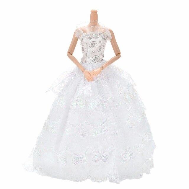 Mode Elegante Weiße Kleid Hochzeit Abendgesellschaft Kleid Kleidung ...
