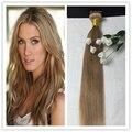 Полный Блеск Один Пучок 100 gram Волос Weave Цвет #27 Блондинка Меда Бразильский Уток Человеческих Волос Шелковистая Прямая Высокая качество Расширений