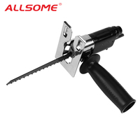 ALLSOME Reciprocating Saw Attachment Change Electric Drill Into Reciprocating Saw Jig Saw Metal File for Wood Metal Cutting