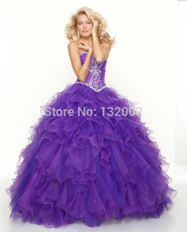Beautiful Prom Dresses Cheap Plus Size Quinceanera Big Puffy Elegant ...