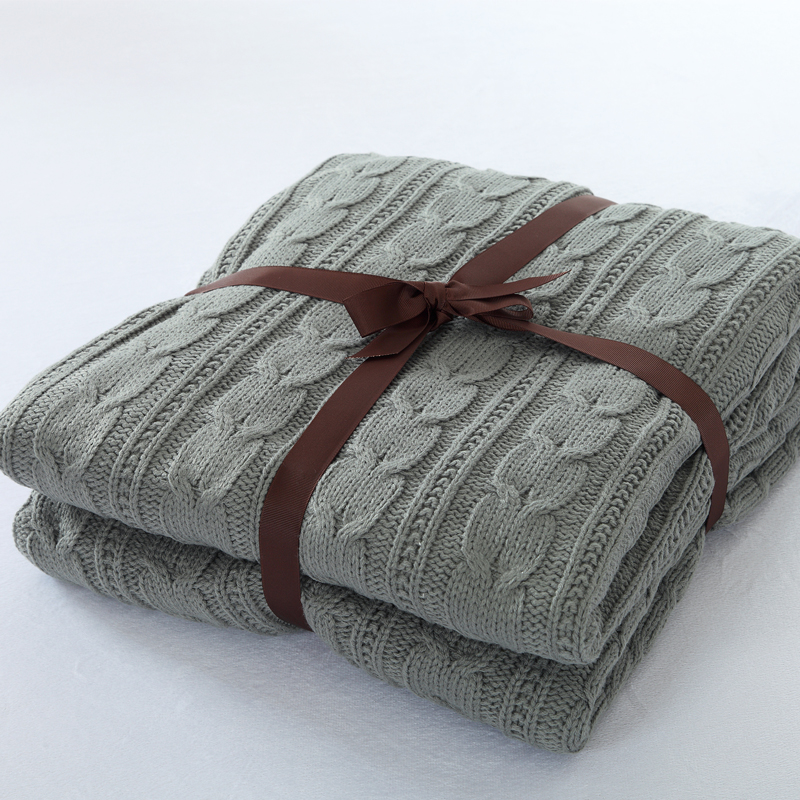 120*180cm Knitted Blanket Cotton Knitted Throw with Super Soft Warm Blanket Cover Double Cable Knit Free Shipping цены онлайн