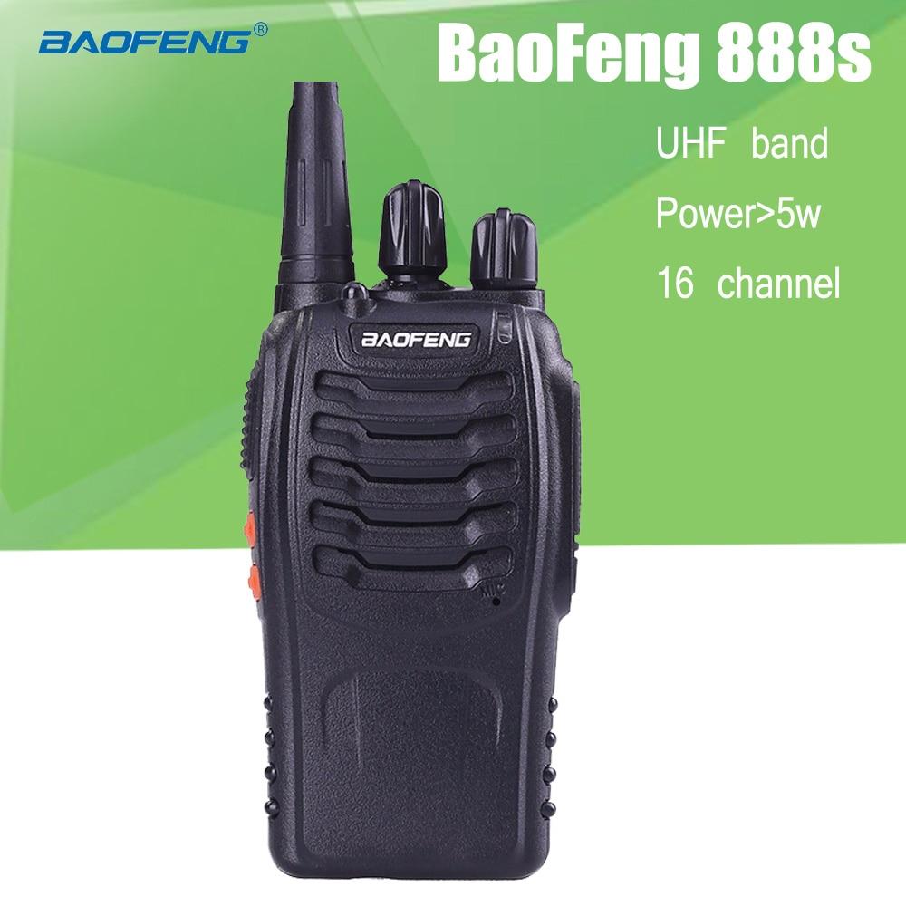 BaoFeng BF-888S 2 Way Radio UHF Wiederaufladbare Walkie Talkies CB Funksprechkommunikations Tragbaren Handheld Zweiwegradio Transceiver