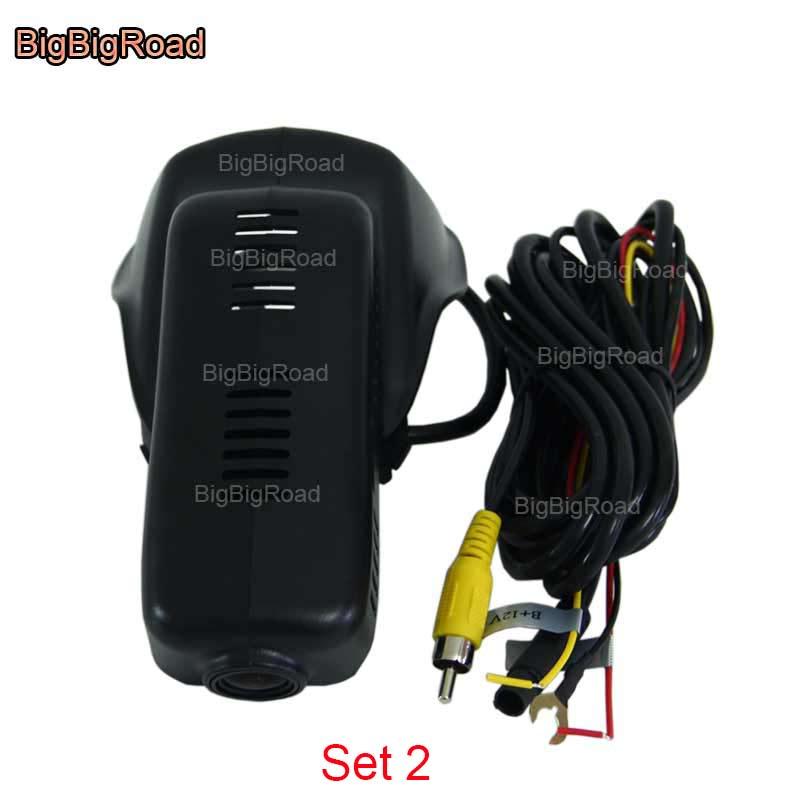 BigBigRoad wifi w samochodzie DVR wideorejestrator Dashcam dla volvo XC60 XC 60 2009 2010 2011 2012 2013 2014 2015/S60L 2018