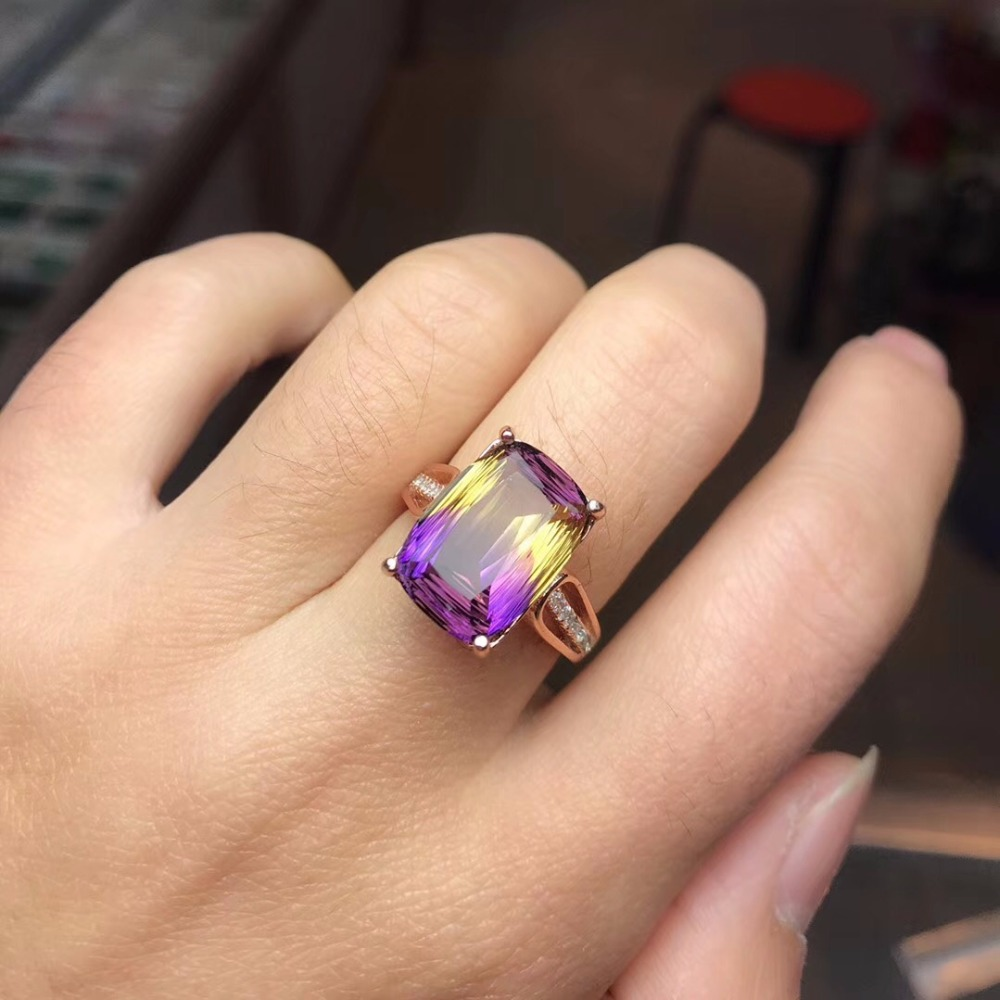 HTB1WZyBa2LsK1Rjy0Fbq6xSEXXaA - Uloveido Square Purple Amethyst Rose Gold 925 Sterling Silver Promise Ring