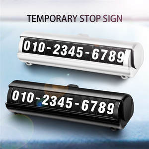 Parking-Card Number Auto-Accessories Decoration Hot Temporary-Stop-Sign Styling Luminous-Phone
