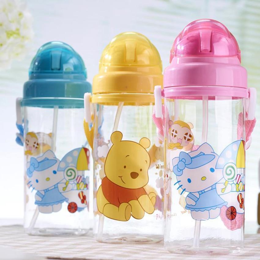 Baby Tumbler Leakproof Water Feeding Bottle Kid Bottles With Straw Child Drinking Bottle Plastic Cup leakage proof straw cap for drinking bottles 2 7cm random color