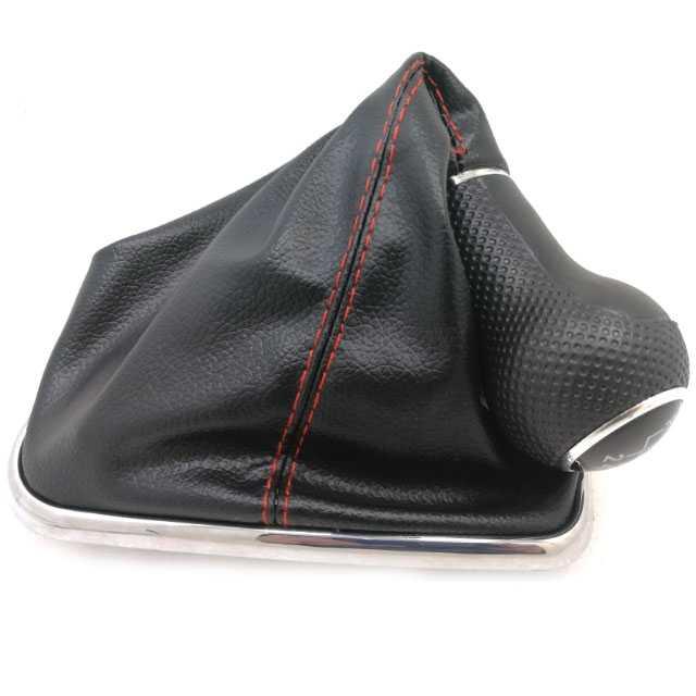 5 velocidad rojo/negro de cuero de la PU de cambio de engranaje de mando palanca de arranque cubierta para VW Golf GTi MK4 R32 bora MK4 Jetta