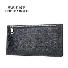 FEIDIKABOLO Männer Echtes Leder Brieftasche Visitenkartenhalter Brieftasche Kreditkarteninhaber ID Portemonnaie Porte Carte Karteninhaber Man