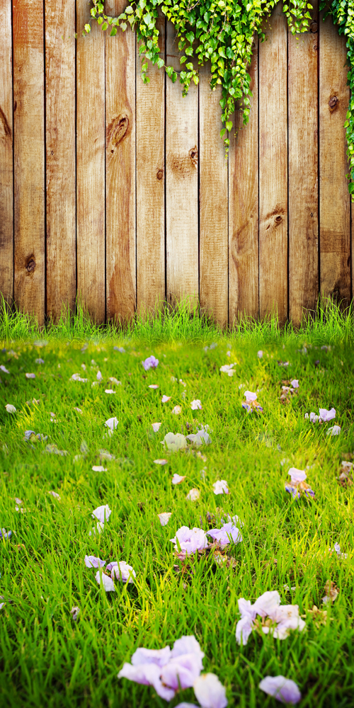 HUAYI 8x10ft Art tissu Printemps De Pâques En Bois Toile de Fond Photographie Pour Nouveau-Né Baisse Fond D-9770