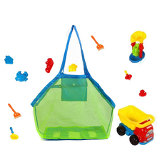 Portable Beach Bag Foldable Mesh Storage For Children Toy Baskets Kids Treasured Object Collection Bags