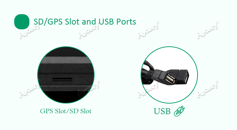 SDGPS Slot and USB Ports