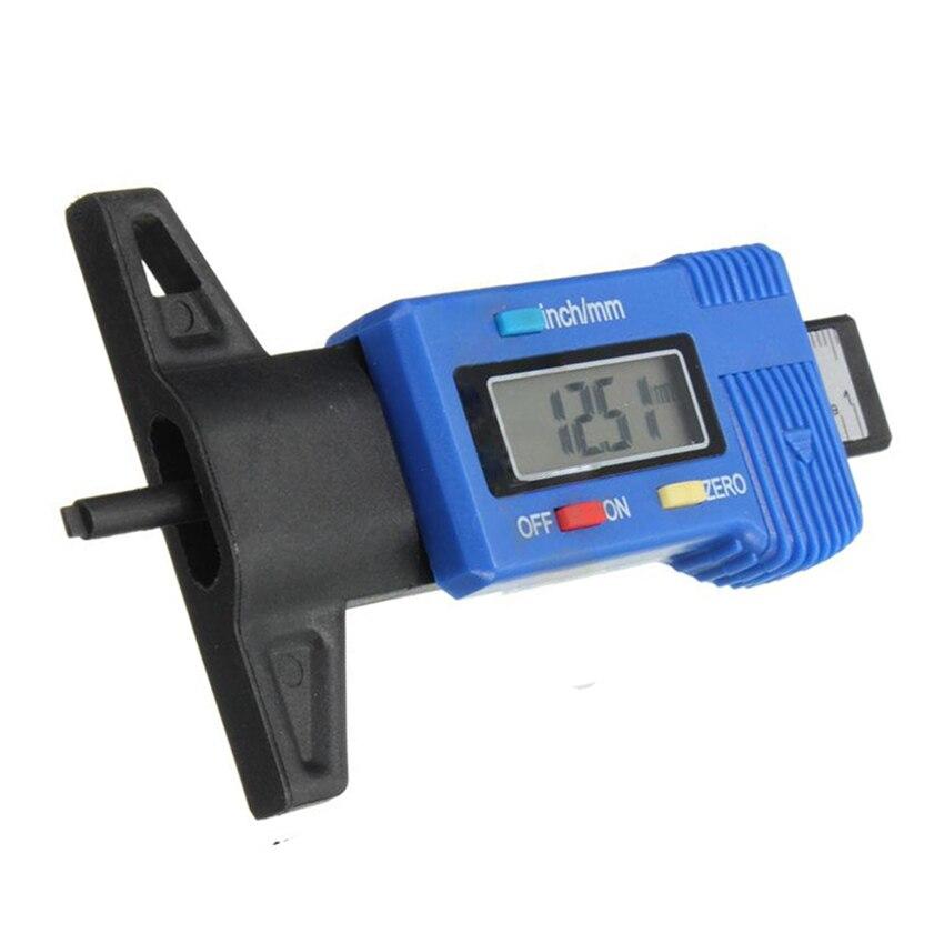 ЖК-дисплей Дисплей Цифровой шин протектора глубиномер тормозных колодок Тестер суппорт 0-25 мм серебро