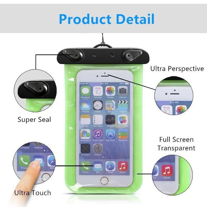 Bolsa impermeable para teléfonos móviles para Huawei Honor Magic/Play/10 GT/V9 Play funda seca bolsa de natación para deportes acuáticos con pantalla táctil