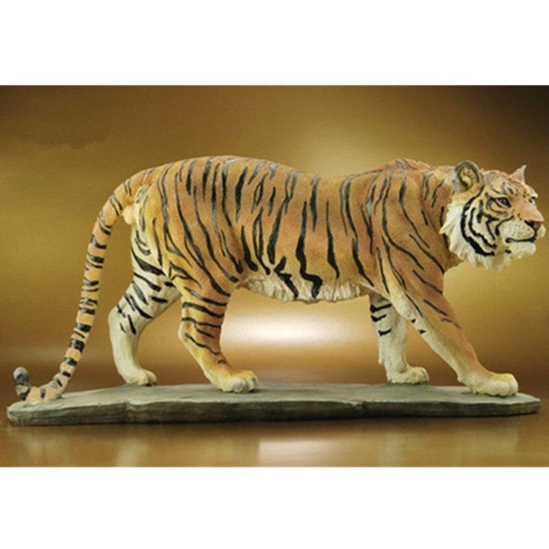Tigre Art Sculpture Feng Shui Figurine Simulation animaux Statues résine artisanat décoration de la maison accessoires pour salon R523