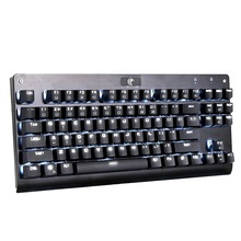 2016 New Blue Switches White Backlit Chroma Dimmable Mechanical Gaming Keyboard 87 Keys LED Without Conflict Mechanical Keyboard