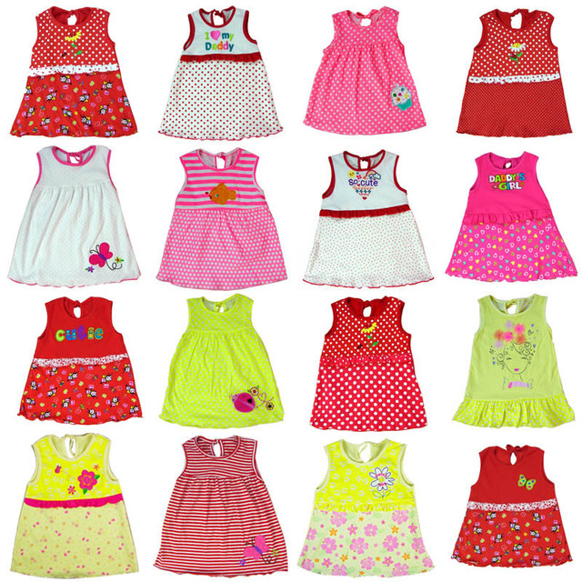 78bd7f56aa 5pcs/lot 2015 Hot Selling 95% cotton baby dress,free shipping, baby girls  night dress, infant gown, girl dress in Spring Summer