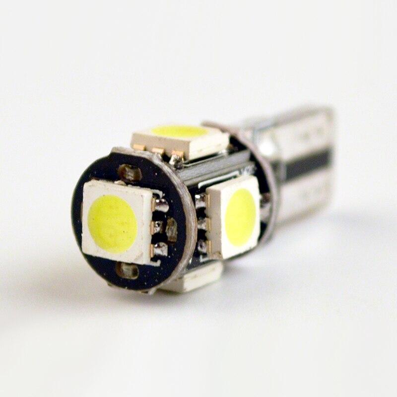 Qoope 10 St/ück T10 12V Canbus Fehlerfreie Gl/ühlampen ersetzen die Lampe 194 168 501 Gelb