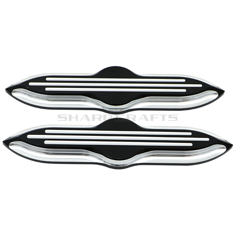 Deep Cut Upper Fork Slider Covers Medallions for Harley Touring FLST FLSTC FLSTF