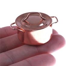 Mini Alloy Dollhouse Kitchen Accessories Doll House Miniatures 1:12 Accessories Mini Kitchenware Miniature Hot Pot