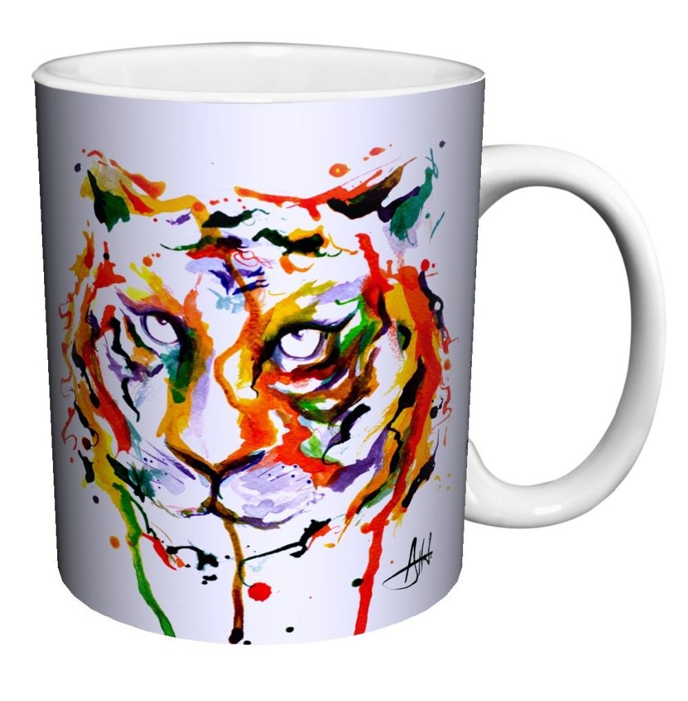 contemporary mugs promotionshop for promotional contemporary mugs  - tiger face modern contemporary animal art porcelain gift coffee (tea cocoa) oz tea mugen white mug dishwashermicrowave safe