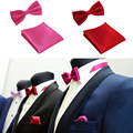Fashion 35 Styles Gravata Bow Tie Hanky Bowties for Mens Business Wedding Party Men Pocket Squares Handkerchief GTZLJd