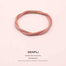 цена на Sempli Korean Women Elastic Hair Band Headband Double Share Elastic Hair Bands for Kid Hair Rubber Band Hair Clip Accessories