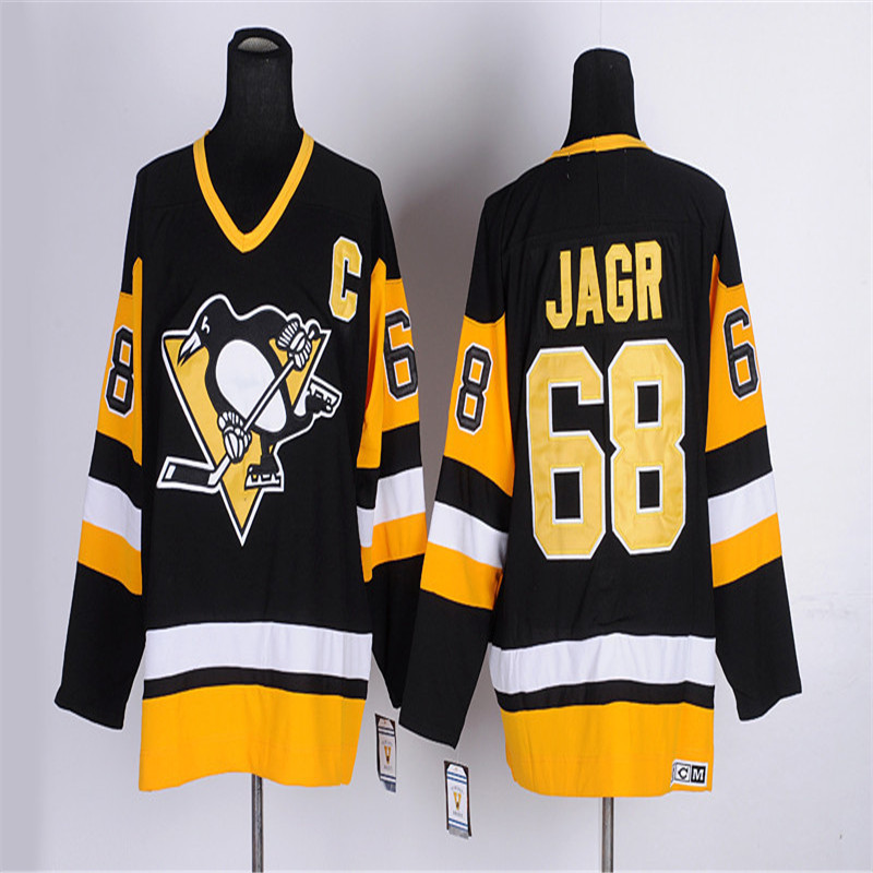 ... release date hot sale men 68 jaromir jagr color black white yellow high  quality 100 stitched 309775e91