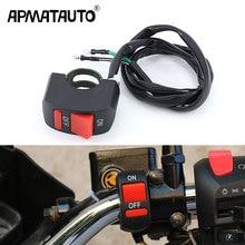 1X motorbike universal motorcycle switch handlebar switch button ON-OFF For 12v U5 U7 Head