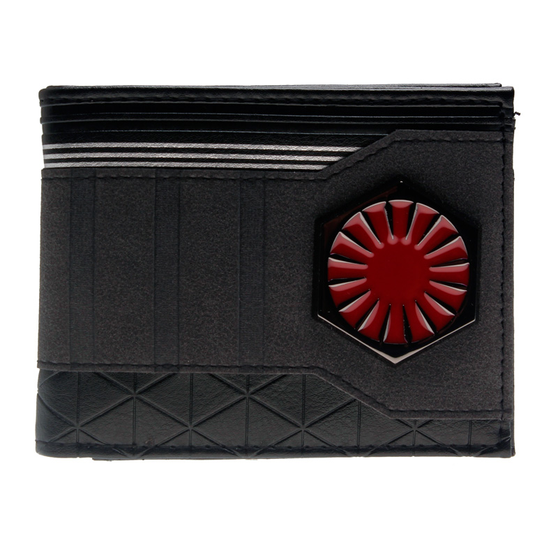 Star Wars  Bi-Fold Wallet  DFT-3024 captain america black metal badge bi fold wallet faux leather dft 1413