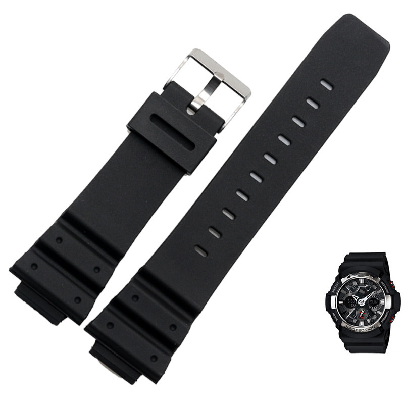16MM Sports Diving Silicone Rubber Watchband Strap for Casio G-Shock GW-M5610 DW9052 Man Black Waterproof Accessories