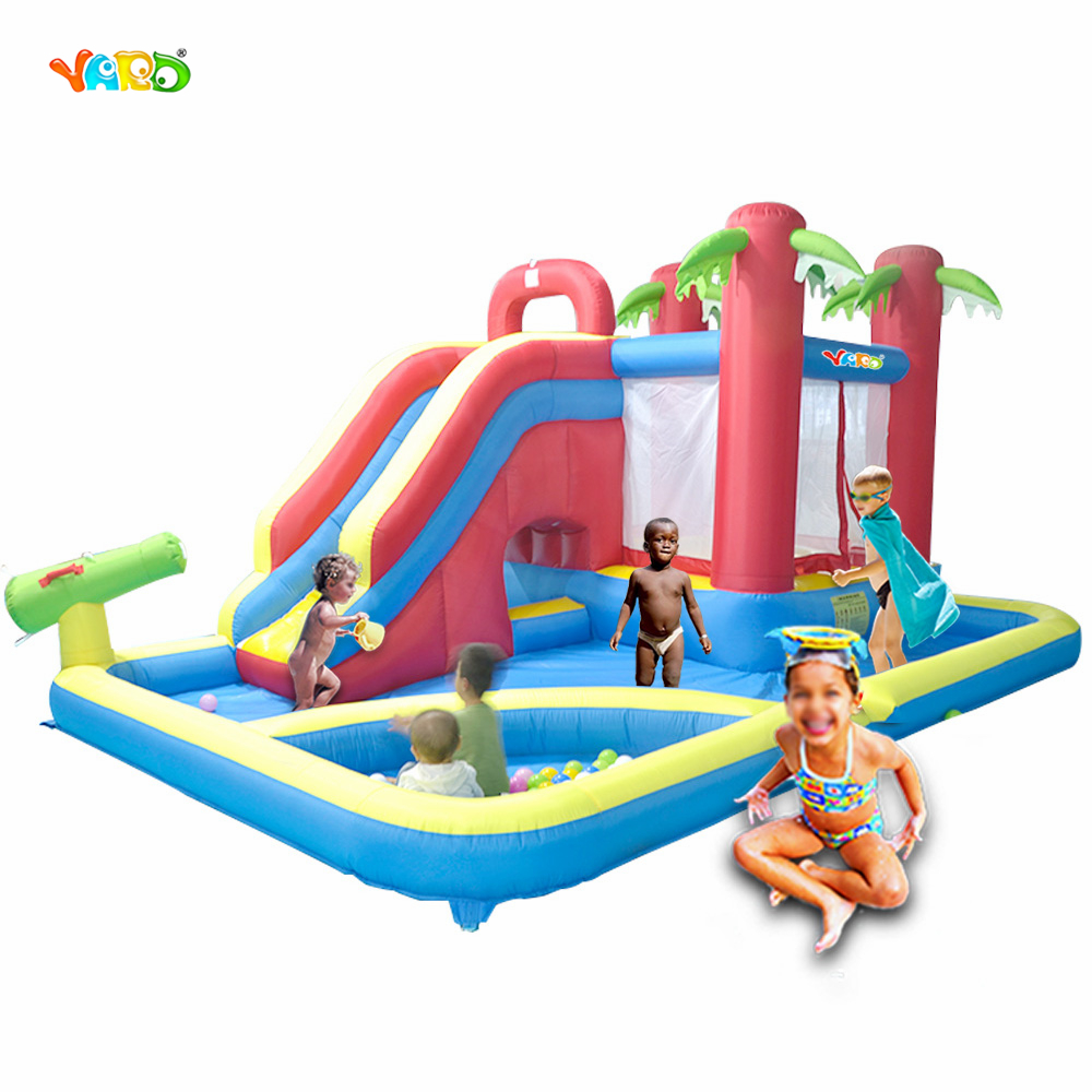 Yard Kids Outdoor Play Water Park Inflatable Slide Combo Summer Swimming Pool Bouncy Castle Ball