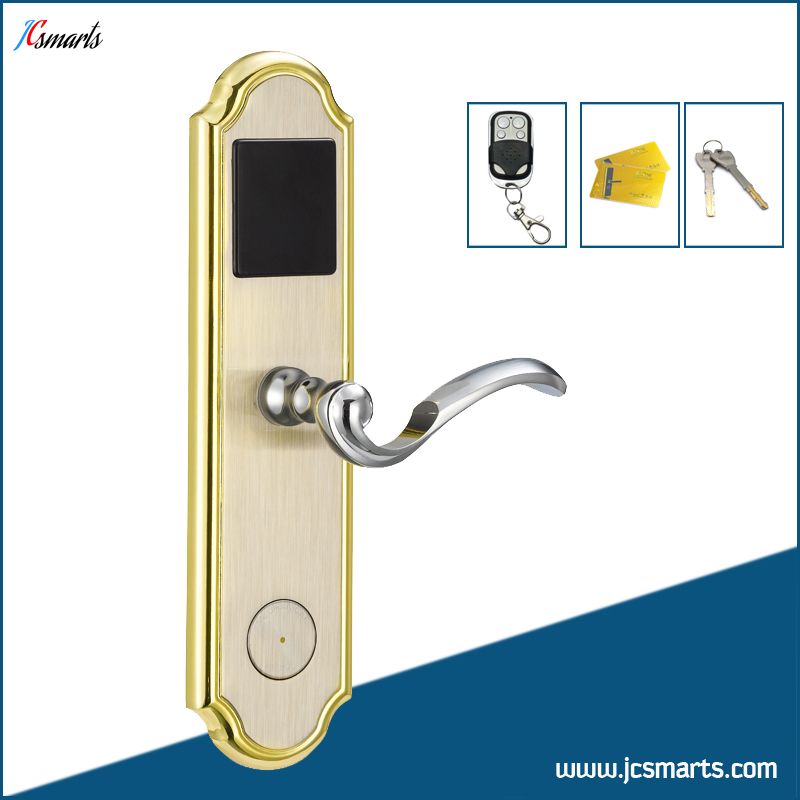 Office keyless door lock electric M1 key card lock with remote controll unlock apartment electric door lock keyless passcode lock with mini size