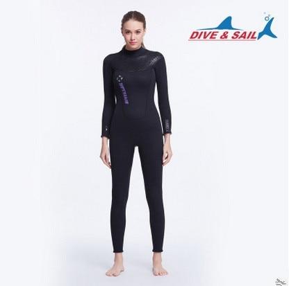 DIVE & SAIL Oficiālais veikals Wome Men 3mm Neoprene Wetsuit Long - Sporta apģērbs un aksesuāri