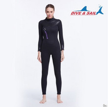DIVE&SAIL Offical Store Wome Men 3mm Neoprene Wetsuit Long Sleeve Multi-functional Recreation Watersports Surf Diving Suit