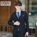 (Jacket + Pants)New fashion 2016 men suit slim fit wedding suits men ternos costume mariage homme mens suit vestidos moda Blazer