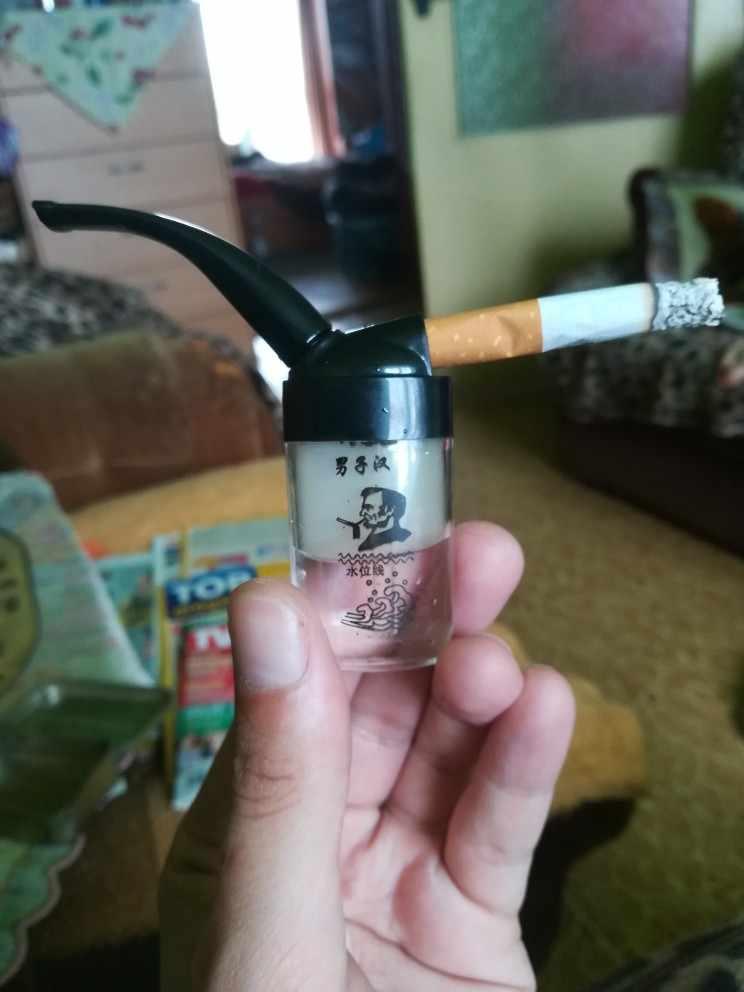 1ชิ้นผู้ชายอุปกรณ์การสูบบุหรี่น้ำสูบบุหรี่ยาสูบท่อซิการ์บุหรี่H Olderกรองมอระกู่สูบบุหรี่ท่อ