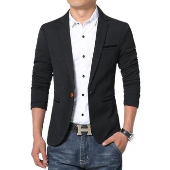 Mens Black Slim Fit Formal Casual Coat One Button Notch Lapel Groomsman Evening Prom Blazer Mens Business Daliy Suit Jacket