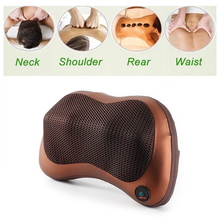 Electric Infrared Heating Kneading Neck Shoulder Back Body Spa Massage Pillow Car Chair Shiatsu Massager Masaj Device(China)