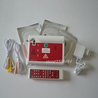 AED Simulation Trainer First Aid Training Machine With Electrode Replacement Pads 50Pcs Lot Red Color CPR