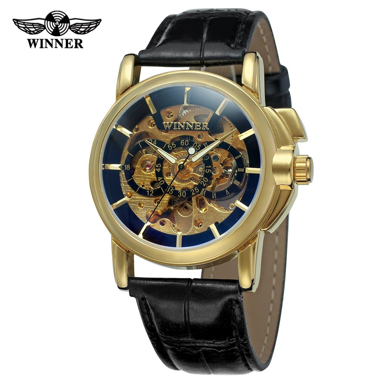 Nové módní vítěz hodinky Muži Mechanické ruční větru - Pánské hodinky