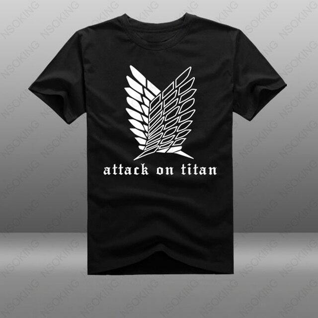 4281a6d8e T-shirt Anime shingeki no Kyojin Attack on Titan T Manga Curta Camiseta