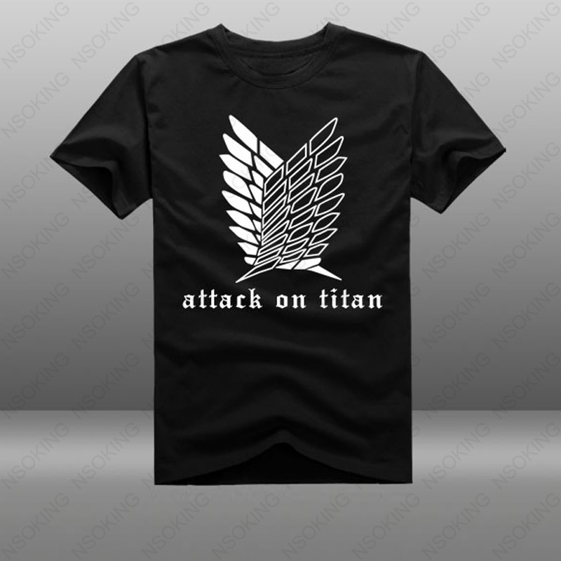 T-shirt Attack on Titan Short Sleeve Tees Anime Shingeki no Kyojin T Shirt