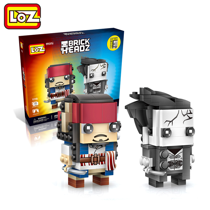 LOZ Pirates of the Caribbean Jack Salazar Mini Blocks Brick Heads Figure Toy Assemblage Toys Offical Authorized Distributer