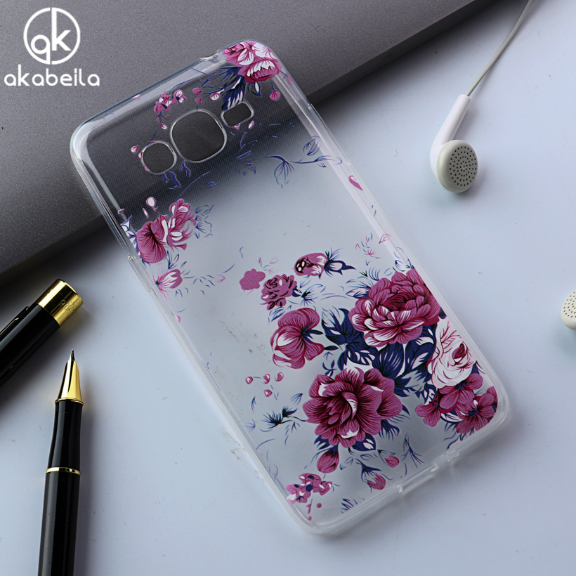 AKABEILA Phone Cover Case For Samsung Galaxy J1 Mini Prime Cellphone Case SM-J106 4.0 inch Painted TPU Cover Housing Skin
