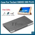 """Alta calidad PU cubierta de Cuero Para Teclast X80HD X80 X80 Plus Pro P80t 8 """"Tablet funda protectora + protector de la Pantalla de regalos"""