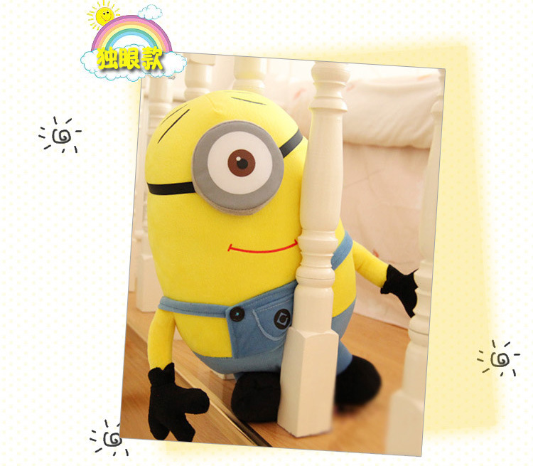 lovely cartoon single eye design Minion doll large 50cm plush toy soft throw pillow Christmas gift w5359 блендер philips hr 3556 00 on the go viva collection