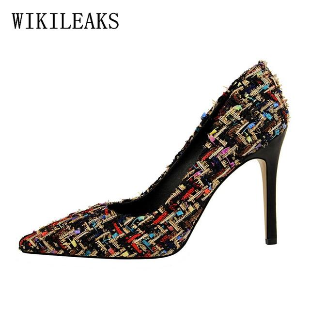 6271f63b0 women high heel shoes woman sexy high heels zapatos de mujer de moda 2018  italian euro designer bigtree shoes party women pumps