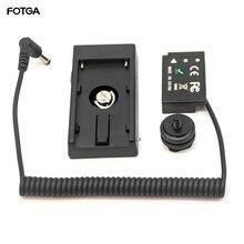 FOTGA LP E17 Dummy แบตเตอรี่ + F970 แบตเตอรี่ Mount สำหรับ Canon EOS M3/5/6 800D 750D
