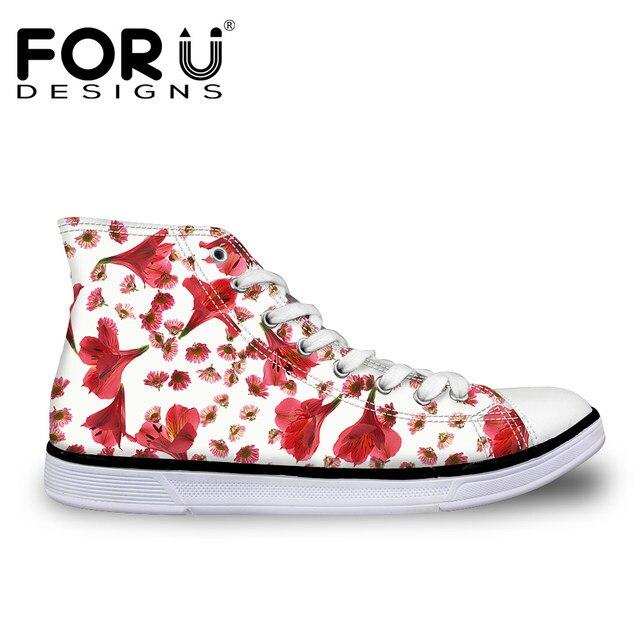 3d Chaussures pour Forudesigns femmes Pretty ligne Casual Flower en Boutique Printing tfa0ww